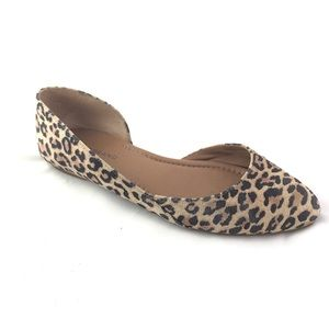 LUCKY BRAND Abia Animal Print Leather Flat 8.5 M